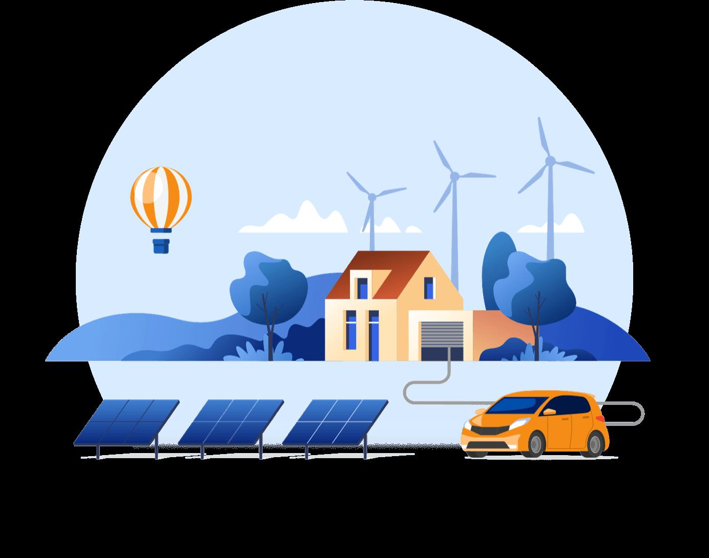 house-car-solar-panels